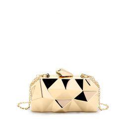 $enCountryForm.capitalKeyWord Australia - New 2019 Classic Designer Chic Mini Day Clutch For Female Women Metallic Handbag Lady Small Chain Wedding Evening Bag An1218