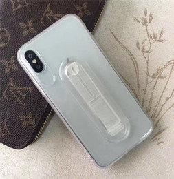 Para o iphone 6gs 7g 8g plus xs max xr espelho tpu suave slicone tampa traseira case com suporte suporte de apertos venda por atacado