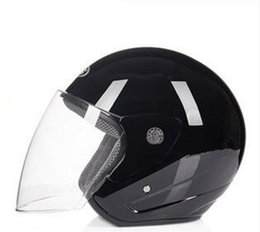 $enCountryForm.capitalKeyWord Australia - 2018 Black New Vintage Motorcycle Motorbike Open Face Half Motor Scooter Helmets Lens open face motorcycle helmet