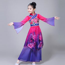 3e79f3068 Classical Dance Costumes Girls Elegant Chinese Ethnic Yangko Dance Suit Performance  Clothing Chinese Style Fan Clothes