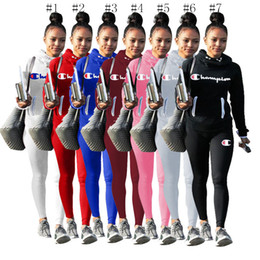 $enCountryForm.capitalKeyWord Australia - Champion brand Womens Designer Clothing Tracksuit Heap Collar Hoodies and Pants Leggings 2 Piece Outfits Bodysuit Autumn Sportwear C8102