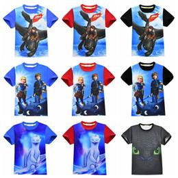 T shirT prinTing boy girl prinT online shopping - 3D print T Shirt How to Your Dragon Short Sleeves Boys movie Dragon T Shirt Kids Christmas cartoon Baby Girl Tops AAA1882