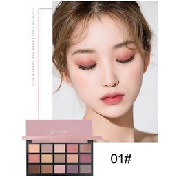 Eyeshadow Pigment Palette Wholesale NZ - 3 Styles 15 Colors Matte Pigment Glitter Eyeshadow Palette Shimmer Natural Earth Color Palettes Makeup Set Long Lasting