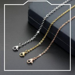 $enCountryForm.capitalKeyWord Australia - Stainless Steel Chains Necklaces for Men and Women Hot Sale Fashion Titanium Steel Chain Necklace 1-3mm Jewelry wholesale Free Ship 0918WH