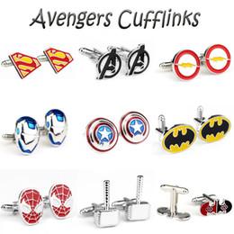 $enCountryForm.capitalKeyWord Australia - 15 Style Marvel The Cufflinks Thor Hammer Iron Man Superhero Charms Cufflinks For Men Jewelry