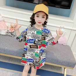 Wholesale Little Girl Tees Shirts Australia - Girls Long Sleeve T Shirt Cotton Long Tee Shirt kids designer clothes girls T-Shirt Kids Shirts little girls clothing A3329