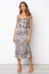 $enCountryForm.capitalKeyWord NZ - Women Summer New Elegant Dots Dress Spaghetti Strap Leopard Beach Dresses Casual Vestidoes