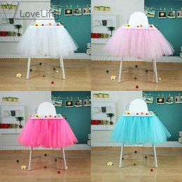 $enCountryForm.capitalKeyWord Australia - High Quality100cm X 35cm Tutu Tulle Table Skirts Baby Shower Birthday Decoration For High Chair Home Textiles Party Supplies