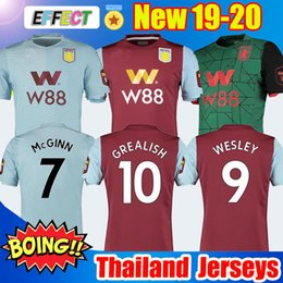 soccer aston villa UK - 2019 2020 Aston Villa GREALISH Mens Soccer Jersey 19 20 ENGELS WESLEY CHESTER EL GHAZI Home Away Football Shirts McGINN DOUGLAS LUIZ Uniform