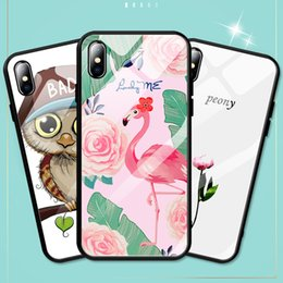 paint for wine glasses Australia - Applicable Iphone Xr Glass Phone Case 6 7 8 Apple Xs Max Painted Mobile Phone Case Shell Phone Case Protective Cover