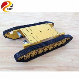 tank motor Canada - T800 Big RC Robot Tank Chassis Platform With Solid Structure DC 9V-12V Motor For Robot Competition DIY RC Toy Parts
