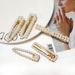 Korean Clips For Hair Australia - New Fashion Pearl Hair Clip for Women hair barrette Elegant Korean Design Pearl Metal Hairpin Hair Styling Accessories