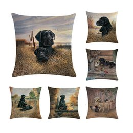 Car two babies online shopping - Black Labrador Retriever Cushion Cover Lab Dog Throw Pillow Case Puppy Baby Dog Gifts Decor Animal Car Seat Sham Two Sides ZY245