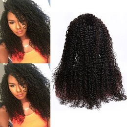 Kinky Curly Human Hair Afro Wigs Australia - Brazilian Virgin Hair 8-30inch Kinky Curly Lace Front Wigs Natural Color Afro Kinky Curly Human Hair Wig With Baby Hair