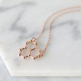 $enCountryForm.capitalKeyWord Australia - 30pcs lucky geometric Water Molecule Necklace Science STEM Necklace Chemistry pendant Necklace ice Hydro molecule H2O formula jewelry