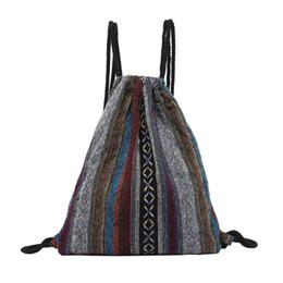 $enCountryForm.capitalKeyWord NZ - High Quality Canvas Floral Women Folk-Custom Hand Bag Printing Crossbody Bag Drawstring school backpacks for teenagers #B30