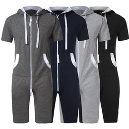 Foot Jumpsuits Australia - 2019 new style hot sales Men's Unisex Jumpsuit One-piece garment Non Footed Pajama Playsuit Blouse Hoodie high quality sales