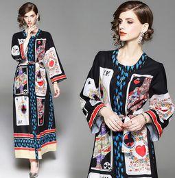 $enCountryForm.capitalKeyWord Australia - Free shipping 3D Playing card printing style Women's Dresses formal dress