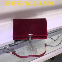 promise chain NZ - Top quality Women Mini Crossbody 19cm wide velvet satchels casual bags with steel chain dustbag and box available promising Lowest prices