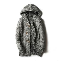 $enCountryForm.capitalKeyWord Australia - Sweater Men Cardigan Long Camisa Masculina Mens Slim Fit Hooded Knit Sweater Fashion Cardigan Long Trench Coat Knitted Jacke