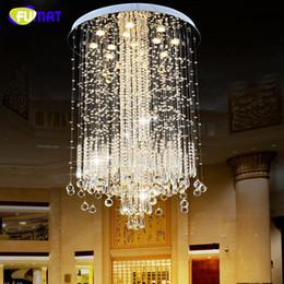 $enCountryForm.capitalKeyWord Australia - FUMAT K9 Crystal Chandelier Lights Modern Crystal Chandeliers Lamps For Villa Penthouse Spiral LED K9 Crystal Chandeliers Lamp