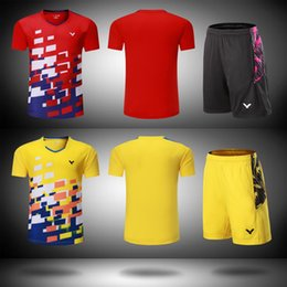 Victor Badminton Shirts Australia - New 2018 Victor badminton wear t-shirt,Malaysia Competition badminton Clothes Men women Clothes jersey Quick-drying table tennis shorts