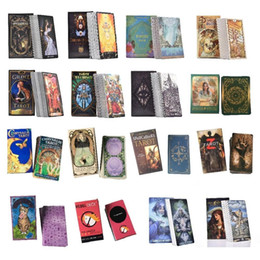 Wholesale Tarot Cards Oracle Guidance Divination Fate Tarot Deck Board Games English For Family Gift Party Playing Card Game Entertainment