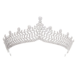 $enCountryForm.capitalKeyWord UK - Gorgeous Crystals CZ Cubic Zirconia Wedding Bridal Royal Tiara Diadem Crown for Women Prom Hair Jewelry Accessories A90043