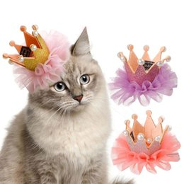 Halloween Wedding Hair Clips Australia - Crown Pet Dog Clip Princess Pet Grooming Dog Hair Clip Pet Dogs Hair Accessories For Small Medium Dogs Headdress Pets Products Wholesale