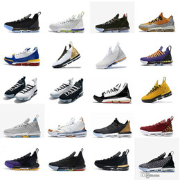 Kids Black Tennis Shoes NZ - Womens lebron 16 basketball shoes Martin Remix Red Black White Bred SuperBron boys girls youth kids lebrons xvi low sneakers tennis c09