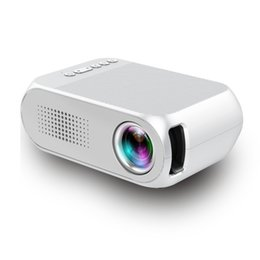 Mini Video Proyector Australia - Mini Portable LCD Projector YG320 Home Theater Proyector USB SD AV HDMI 600 Lumens 320x240 1080P HD LED Portable Projector