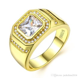 13 Rings Australia - Size 8 9 10 11 12 13 Luxury Jewelry 925 Sterling Silver&Gold Filled princess 5A Cubic Zirconia CZ Dioamond Gemstones Men Wedding Band Ring