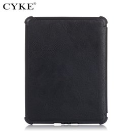 kindle 6 case NZ - CYKE Trifold Book case For Amazon Kindle Paperwhite Folder TPU Slim Case For Kindle 2019 PU leather cover
