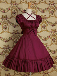 $enCountryForm.capitalKeyWord Australia - Customized Summer Square Collar Short Puff Sleeve Lolita Dresses Halloween Gothic Bow Women's Clothing Q190521