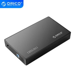 free sata hdd Canada - Computer & Office ORICO 3588US3 HDD Enclosure 3.5 inch SATA External Hard Drive Enclosure USB 3.0 HDD Case Tool Free for