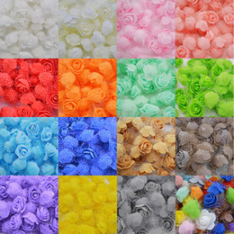Foam Rose Heads White Australia - 50pcs lot 3cm Diy Handmade Foam Flowers 3cm Rose Flower Head Artificial Pe Foam Rose Wedding Decoration Scrapbooking Crafts 8z C19041803