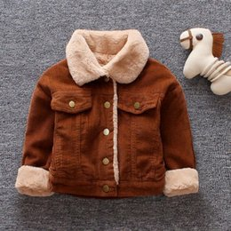 $enCountryForm.capitalKeyWord Australia - baby boys warm coats winter Toddle baby casual cotton thick velvet jackets for bebe boys infant clothing boy's outwear