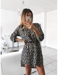 $enCountryForm.capitalKeyWord Australia - Women Dress Spotted Stripes 2019 Women Fashion V-neck Long Sleeved Snake Print Shirt Dress Without Belt Size S-XL