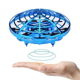 flying ufo toys Australia - UFO Gesture Induction Suspension Aircraft Smart Flying Saucer With LED Lights UFO Ball Flying Aircraft RC Toys Led Gift Induction Drone DHL