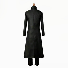 darker black cosplay Canada - Darker than Black Kuro no Keiyakusha Hei black robes Li Shenshun Cosplay Halloween Men uniform Jackets stage performance