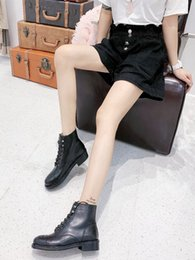 $enCountryForm.capitalKeyWord Australia - High Quality Fashion Luxury Female Designer Shoes, Middle Boots, Classic Low-heeled Shoes, Martin Boots Matching Box