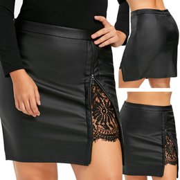 44ee3981a Sexy pleated leather Skirt online shopping - Mini Skirt Sexy Solid Leather  Skirt Women Fashion Women