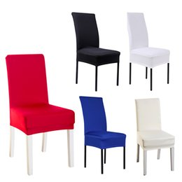 $enCountryForm.capitalKeyWord Australia - Slipcovers Seats Covers Chair Covering Hotel Bar Party 5 Color Spandex Stretch Practical Durable Dining Wedding Supplies Pillow Case