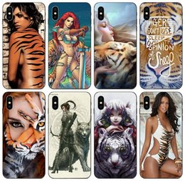 iphone 6s girl cases UK - [TongTrade] Tiger Girl Case For iPhone 11 Pro Max X XS 6s 5s 5c 5 Plus Samsung A8 Plus 2018 Huawei Y5 HTC Desire 12 Plus Free Shipping Case
