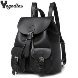Styles Backpacks Australia - Classic 2019 New Women Backpack Large Capacity Backpacks For Girls Teenagers Bag Solid Pu Leather Shoulder Bags With Pockets Y19052202