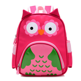 baby bags pcs UK - Cute Owl Animals Baby Backpack Kids Toddler School Bags for Girls 3-5 years Children families Kindergarten Bag