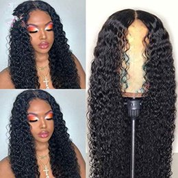 Front lace wigs small online shopping - Brazilian Deep Wave Full Lace Wigs Remy Hair Density Pre Plucked Natural Hairline With Baby Hair Human Hair Wigs