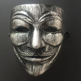 film guy fawkes mask Australia - 4 Styles Party Masks V for Vendetta Mask Anonymous Guy Fawkes Mask Fancy Adult Party Cosplay Halloween Masks