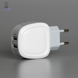 sharp adapter Australia - 5V 2.1A 1.5A Smart Travel HH-030 big Dual 2 USB Eggshell Ellipse oval ellipse style phone charger adapter 200pcs lot