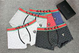 19c5c5e44 Mens marca de luxo Boxers Roupa Interior Carta Sexy Underwear Cuecas De  Algodão Macio Esportes Para Homens Meninos 6 Cor 4 Tamanho sem caixa